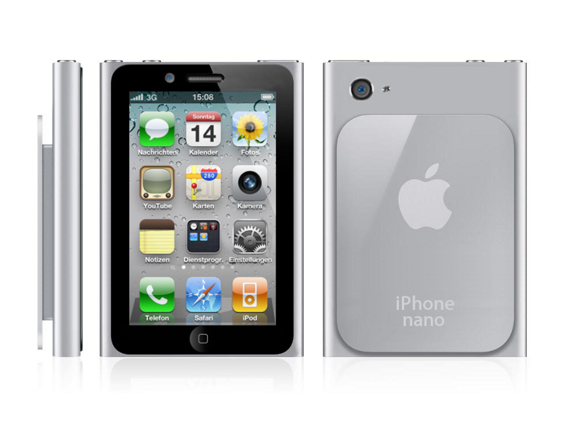"""NOTE: This is just a mock-up of the supposed """"iPhone Nano"""""""