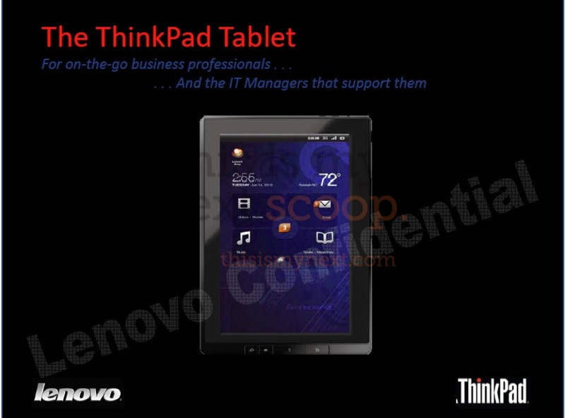 Is Lenovo finally joining the long-ongoing tablet bandwagon? According to the image above, coming from an allegedly leaked company presentation, Lenovo has plans of releasing a Honeycomb tablet this July. […]