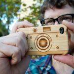 Wood Retro Camera iPhone Case