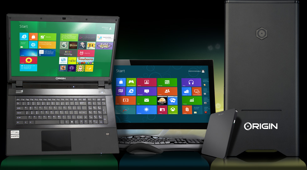 origin pc s touch enabled windows 8 desktops and laptops now available. Black Bedroom Furniture Sets. Home Design Ideas
